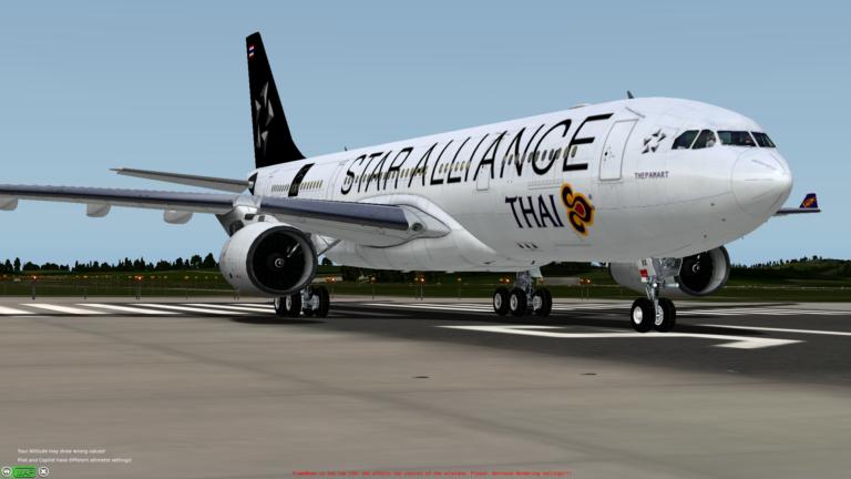 Airbus A330 Thai Airways STARALLIANCE Livery – SIMLIVERIES